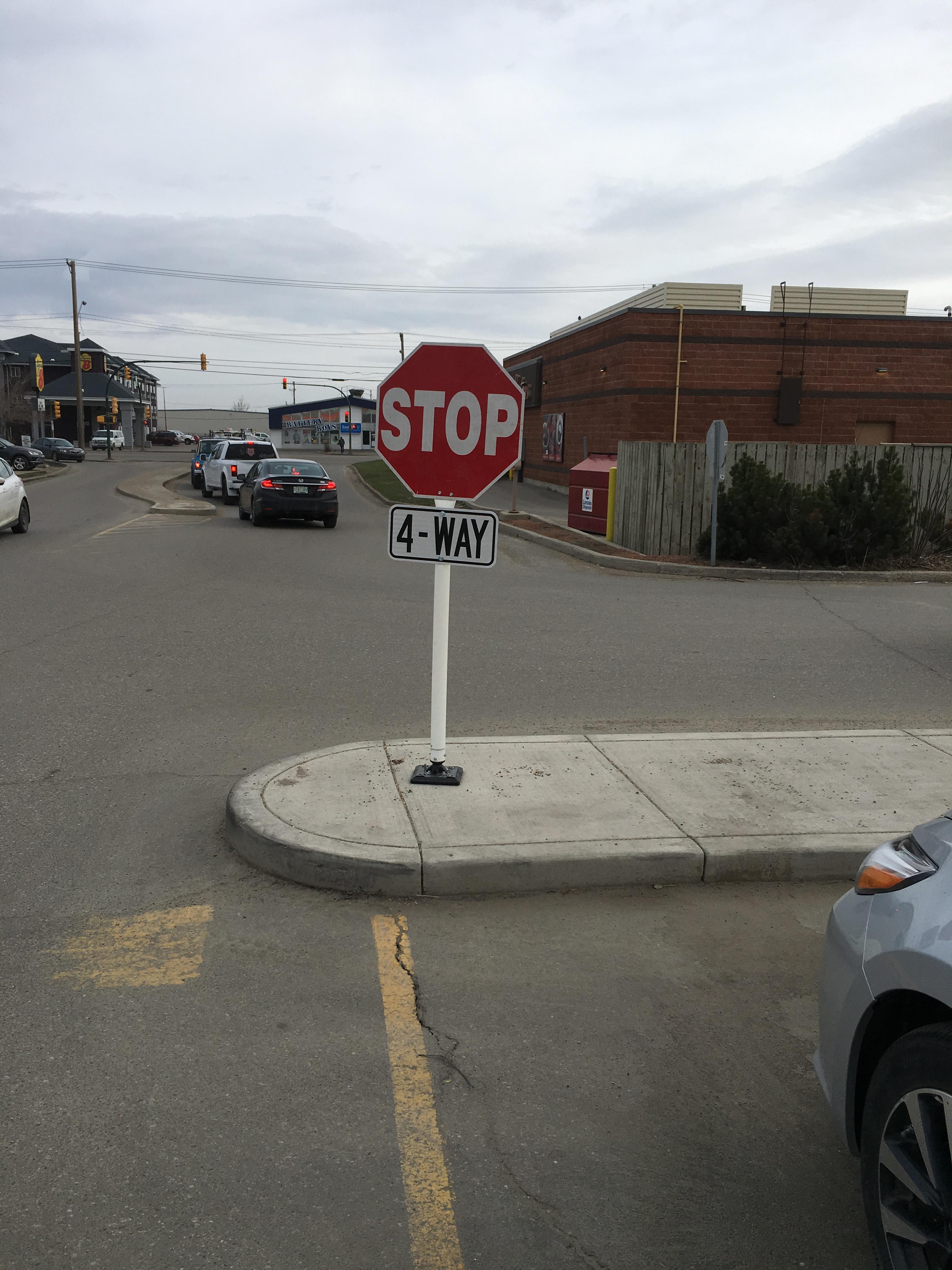 Parking Lot Stop Sign