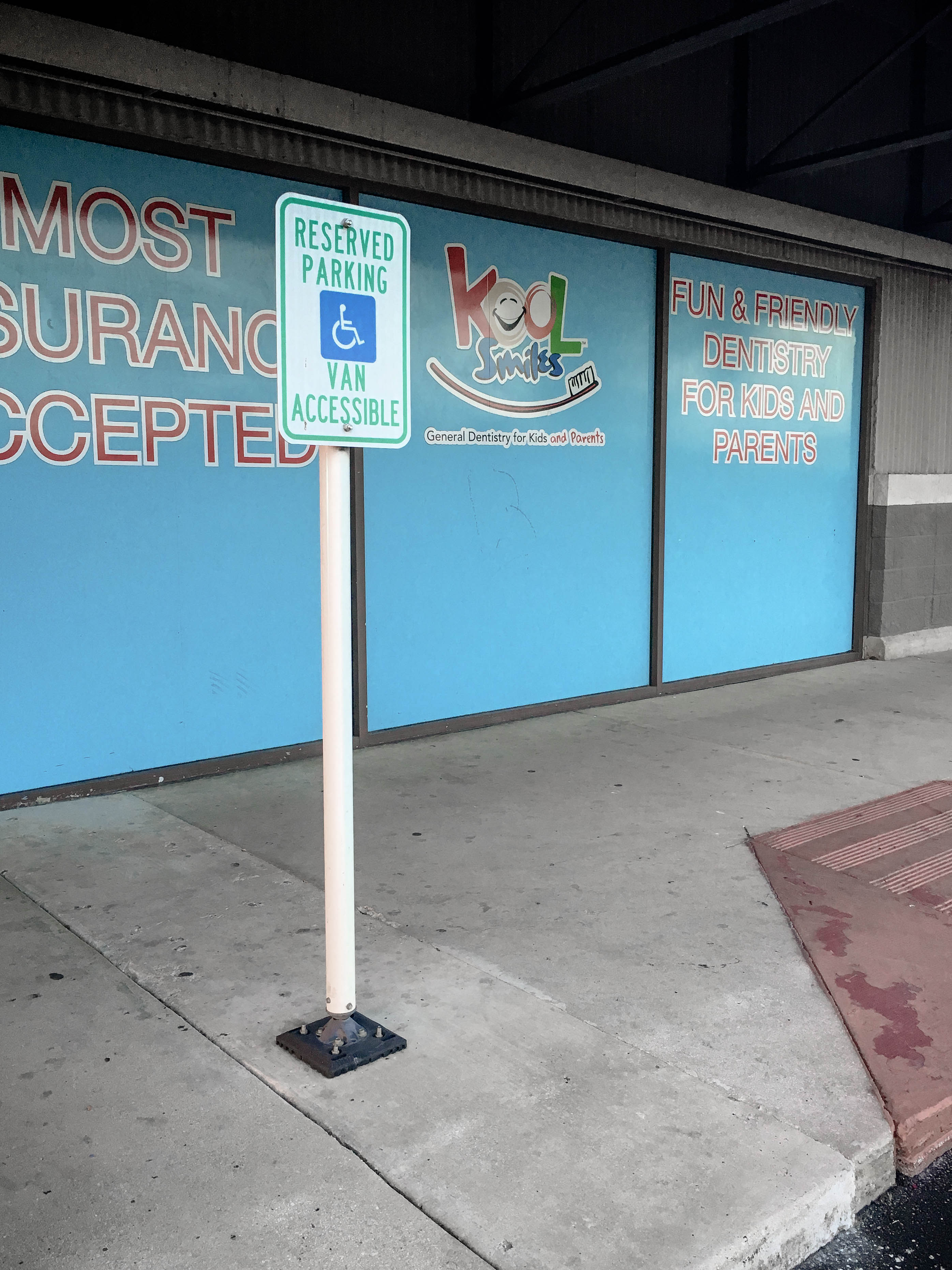 Parking Lot Sign Post