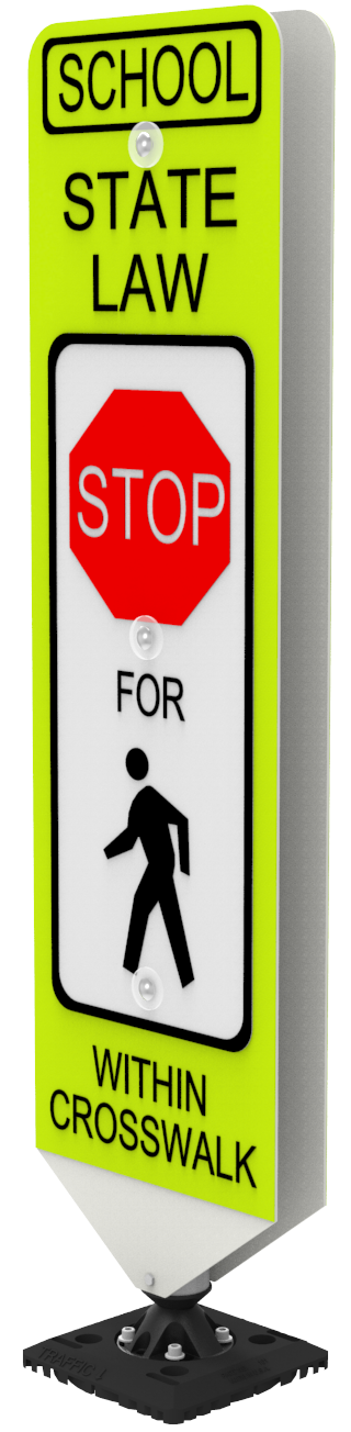 In-Street Pedestrian Crosswalk Sign