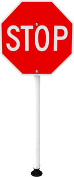 Temporary Stop Sign